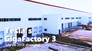 (July 26 2019)Tesla Gigafactory 3 in Shanghai Construction Update 4K 上海特斯拉超级工厂3建造进度更新